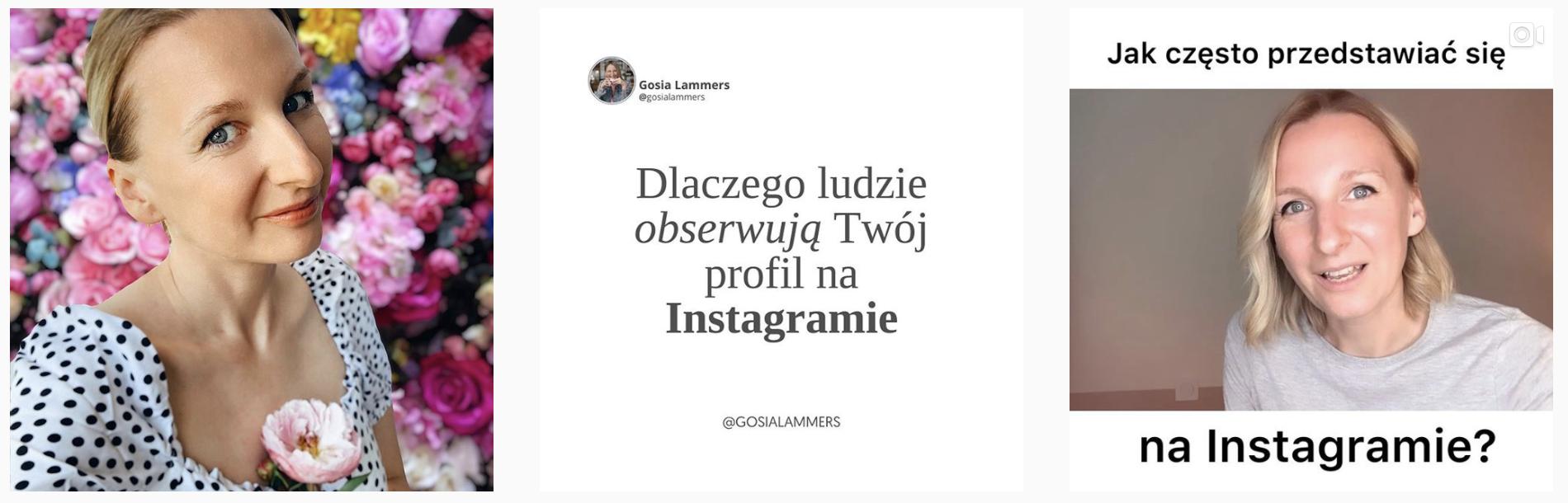 Instagram profil Gosia Lammers